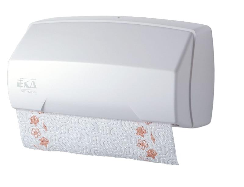 Podajnik do ręczników składanych i w rolce EkaPlast 096-01, biały plast