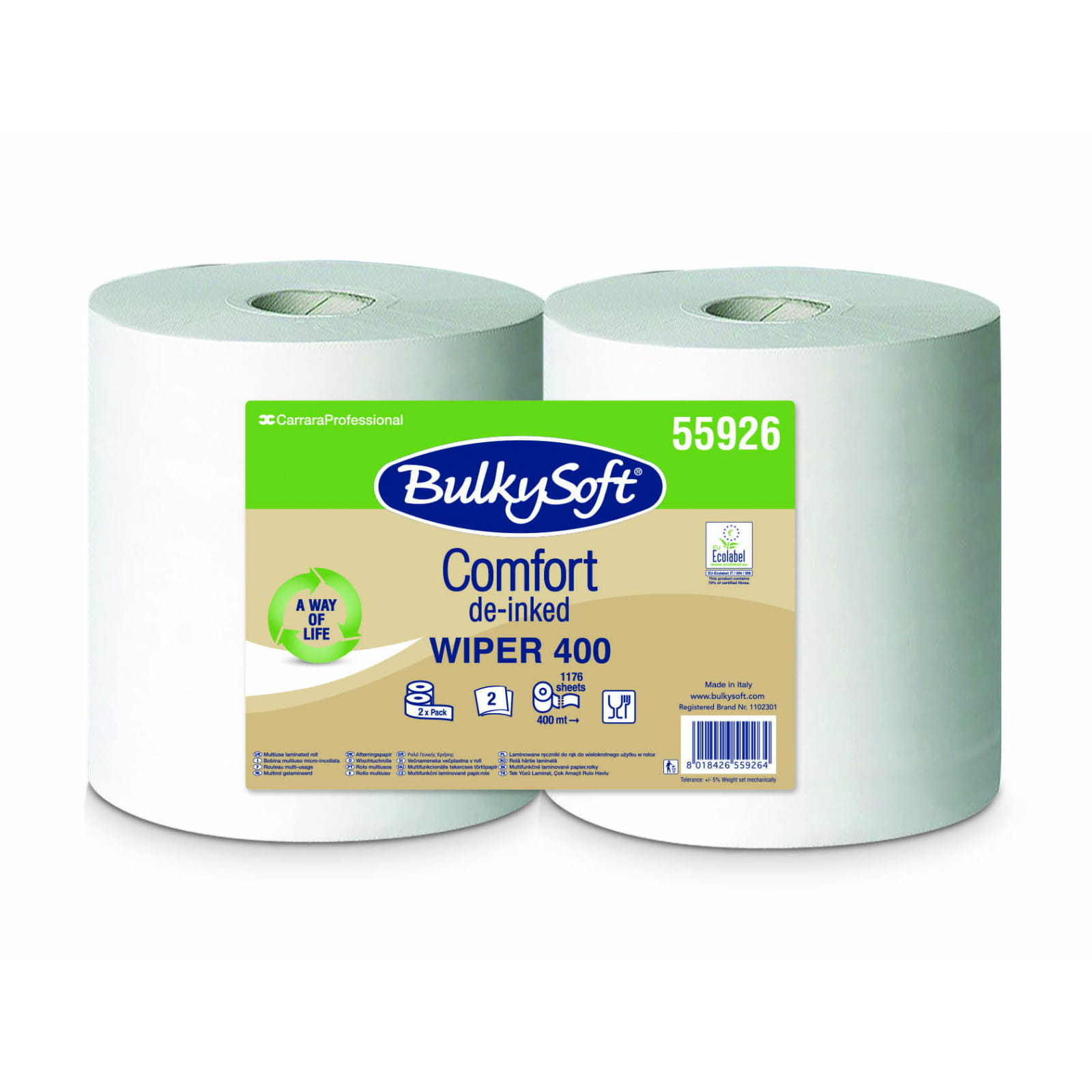 Czyściwo papierowe dług. 400 mb BulkySoft Comfort 55926 2-warstw